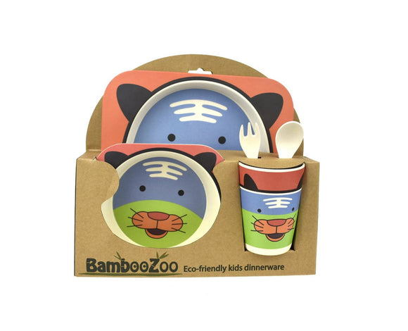 BAMBOOZOO DINNERWARE 5PCS TIGER