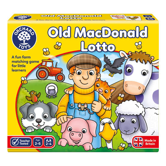 ORCHARD TOYS OLD MCDONALDS LOTTO GAME