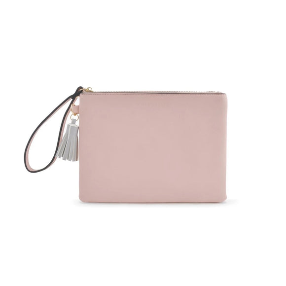 K STYLE HAND POUCH PINK/GREY