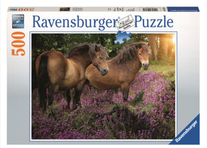 PUZZLE 500PC HORSE IN THE POPPY FIELD