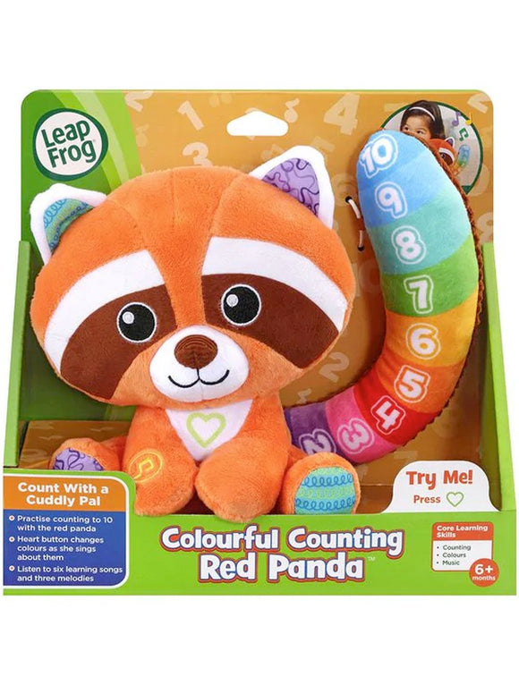 L/F COLOURFUL COUNTING RED PANDA