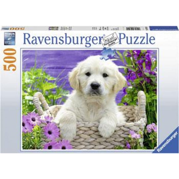 PUZZLE 500PC SWEET GOLDEN RETRIEVER