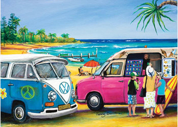 PUZZLE 1000PC BLUE OPAL BLUE KOMBI & MR