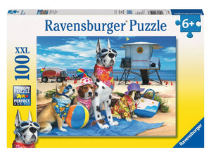 PUZZLE 100PC NO DOGS ON BEACH