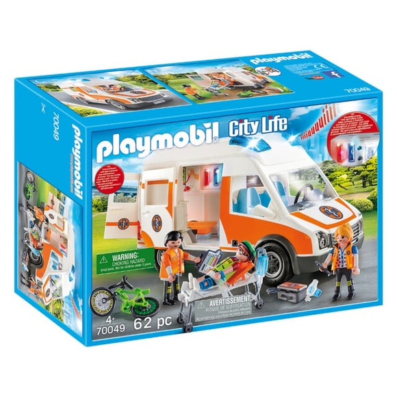PLAYMOBIL 70049 AMBULANCE W/ FLASHING LI