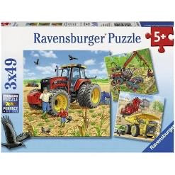 PUZZLE 3X49PC GIANT VEHICLES