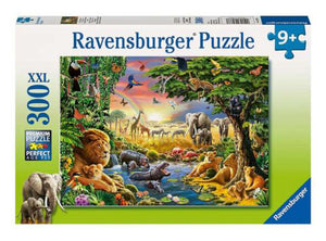 PUZZLE 300PC AT THE WATERING HOLE
