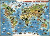 PUZZLE 300PC ANIMALS OF THE WORLD