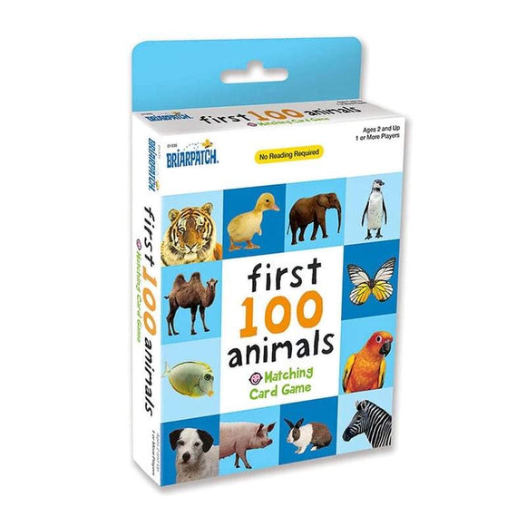 CARD GAME FIRST 100 ANIMALS MATCHING