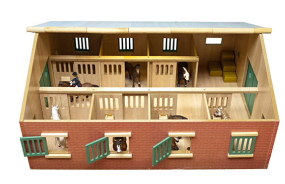 WOODEN 1:24 LARGE HORSE STABLE
