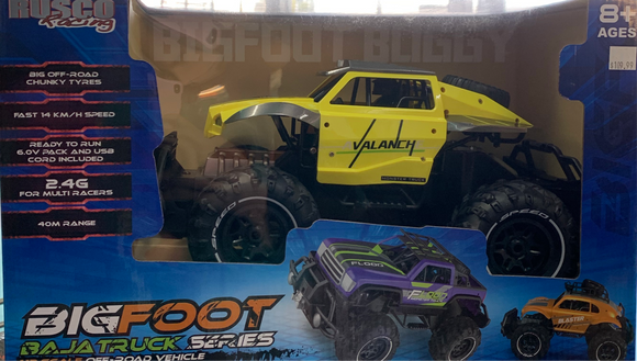 R/C RUSCO BIG FOOT YELLOW DIRT BUSTER