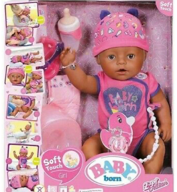 BB BABY BORN SOFT TOUCH GIRL ETHNIC
