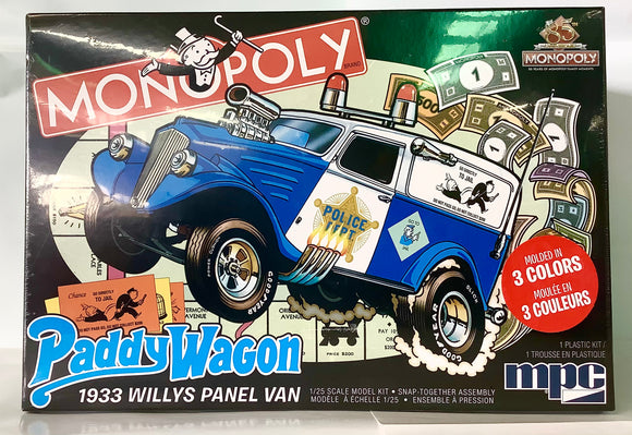 1:25 1933 WILLYS PANEL PADDY WAGON MONOP
