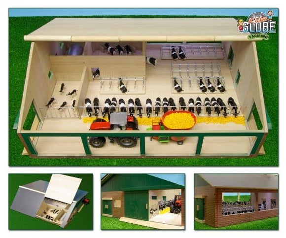 WOODEN 1:32 CATTLE SHED/MILKING PARLOUR