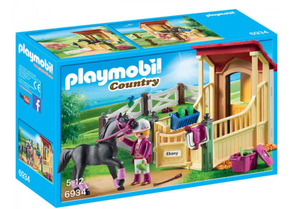 PLAYMOBIL 6934 STABLE W ARABIAN HORSE