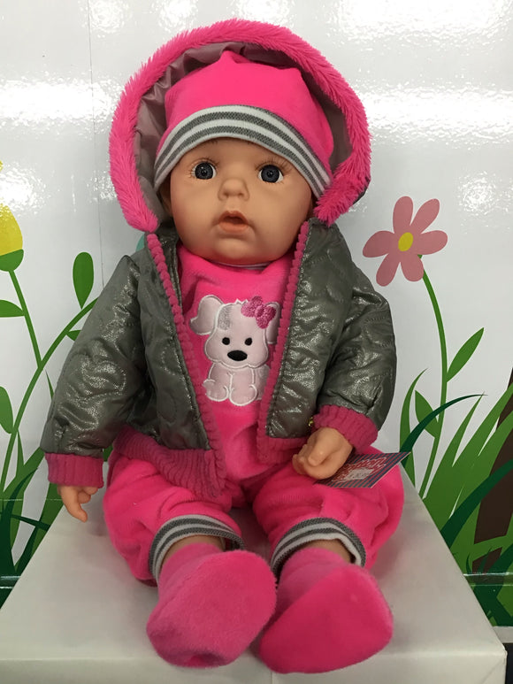 BABY DOLL VICTORIA GREY/PINK