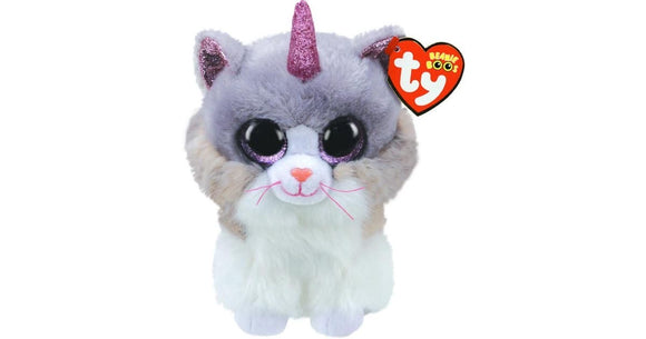 BEANIE BOO MED ASHER CAT WITH HORN