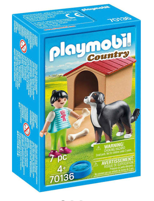 PLAYMOBIL 70136 DOG WITH DOG HOUSE