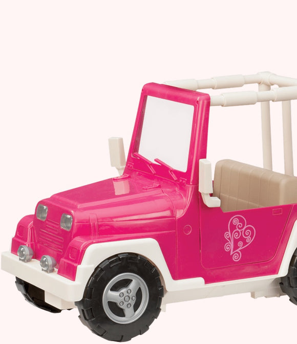 OUR GENERATION 4 X 4 CAR PINK/WHITE