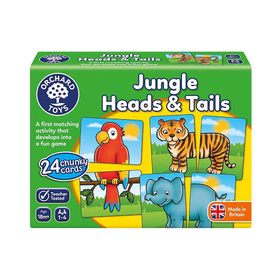 ORCHARD TOYS JUNGLE HEADS OR TAILS GAME