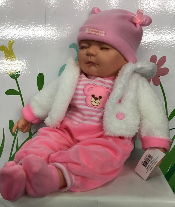 BABY DOLL GRACE PINK WHITE JACKET