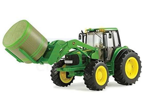 JD BIG FARM TRACTOR W/BALE MOVER 7330