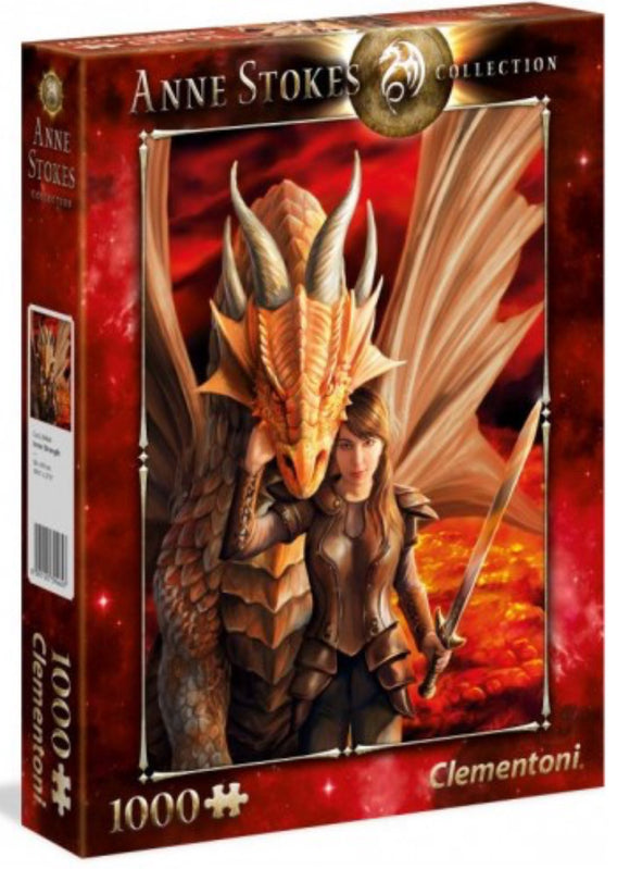 PUZZLE 1000PC ANNE STOKES DRAGON STRENGT