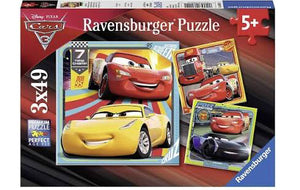 PUZZLE 3X49PC DISNEY CARS 3 COLLECTION