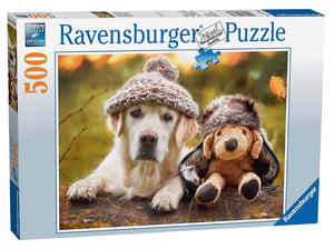 PUZZLE 500PC WINTER LABRADOR