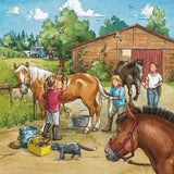 PUZZLE 3X49PC A DAY WITH HORSES