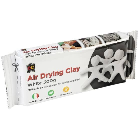 AIR DRYING CLAY 500G WHITE