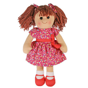 RAGDOLL YD1005 POPPY PINK FLORAL DRESS