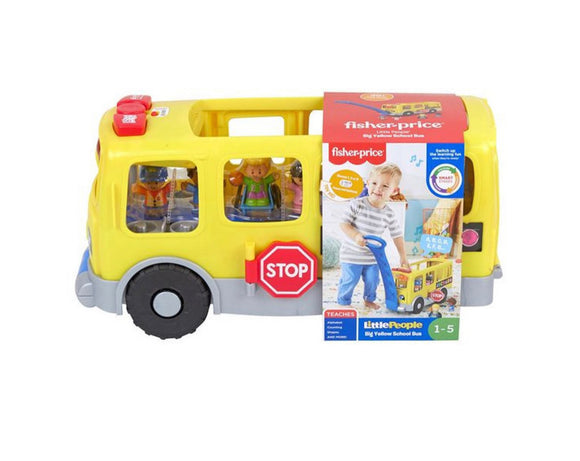 F/P LP YELLOW SCHOOL BUS PULL ALONG