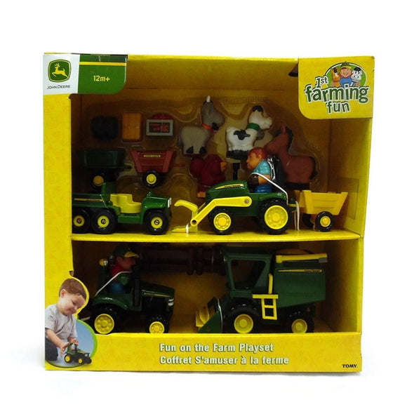 JD BIG RED BARN 4 VEHICLE BONUS SET