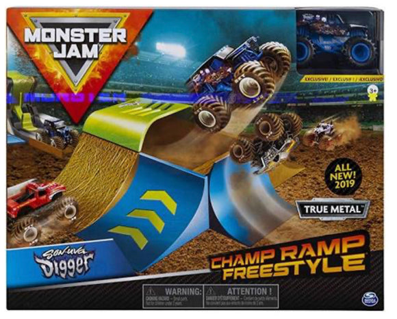 MONSTER JAM 1:64 STUNT PLAYSET AST