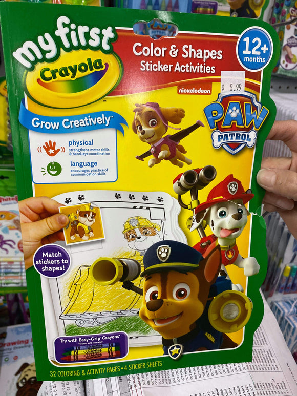 CRAYOLA BOOK COLOR & ACTIVITY PAW PATROL