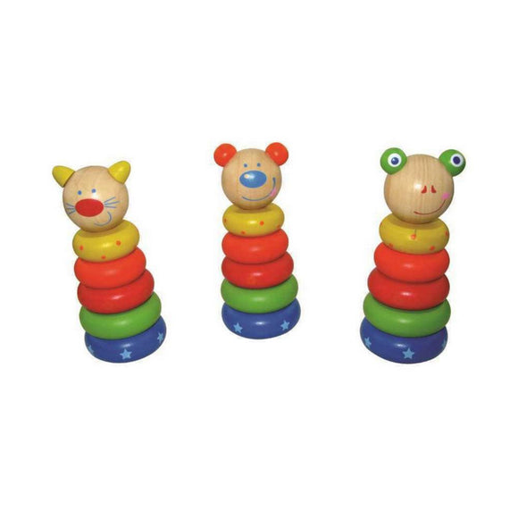WOODEN ANIMAL STACKING BLOCKS
