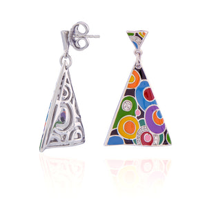 Boucles d'oreilles triangles argent Pop-Rock