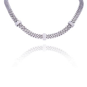 Collier argent massif Treviso