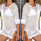 Mesh Knitted Crochet Cover Up