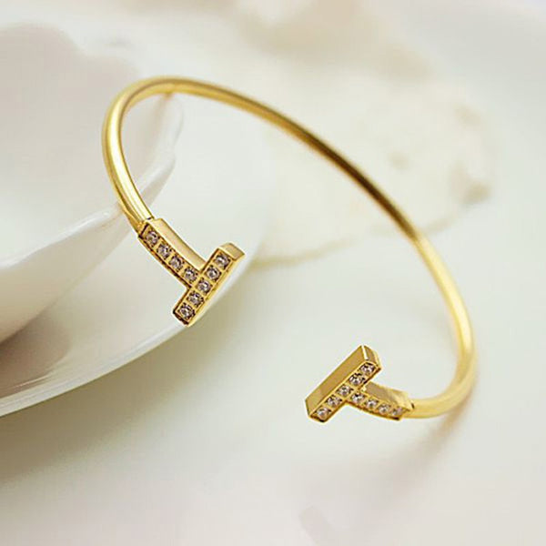 Bangle Top Quality Gold Stainless Steel Bracelets