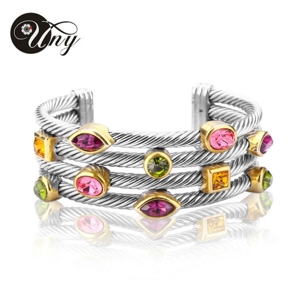 Multi Twisted Cable Wire Bangle Vintage Bracelet
