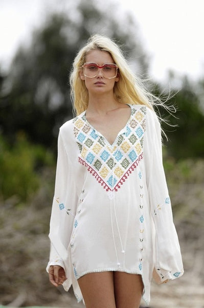 Embroidery Tassel Cover Up