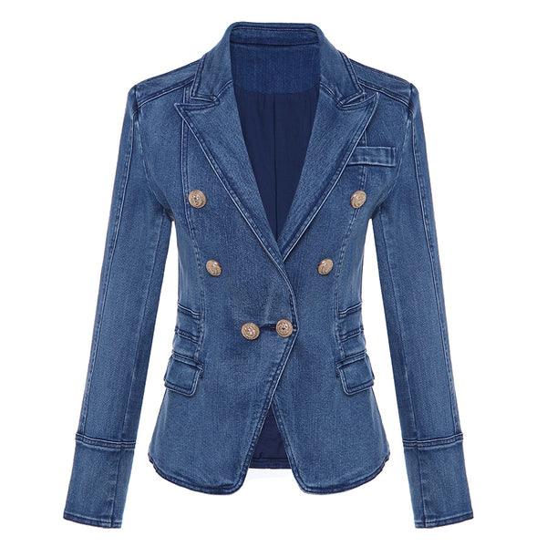 Fashion Designer Denim Blazer