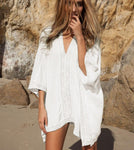 Lace Splice Beach Cover Up 2 Colors