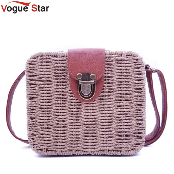 women's handbags bags leather Square Straw Crossbody  shoulder bags