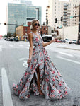 Summer Bohemian Tie-up Floral Dress