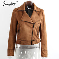 Basic Suede Motorcycle Jacket