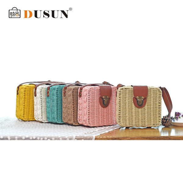 Straw Woven Bag Box
