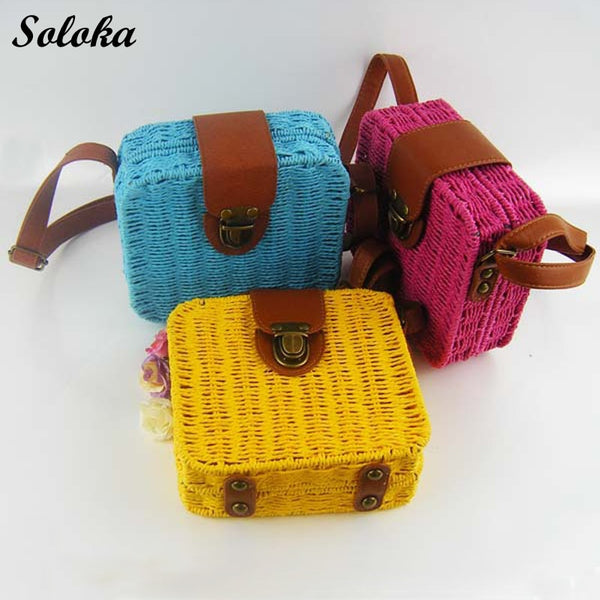 VA Colors Straw Woven Bag